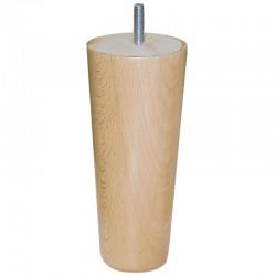 Pied Conique 17 cm bois naturel