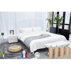 Chambre equipee jeu de pied de lit conique vernis naturel