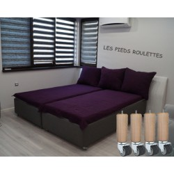 Pieds de lit roulette par jeu de 4 La Boutique Des Proprios