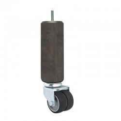 Pied literie avec roulette non freinée chêne grisé La Boutique Des Proprios