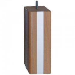 Lot de quatre pied de lit carré bois