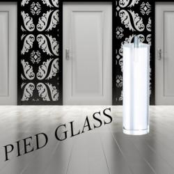 Pied de lit design forme cylindrique transparent pour lit