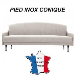 Pied inox conique