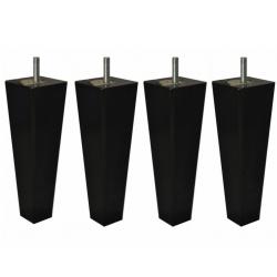 jeu de 4 pieds carré conique coloris noir La boutique des proprios